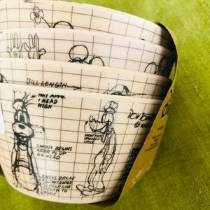 Disney Cup Bowl Side Dish Snack Bowls Sketch Draft
